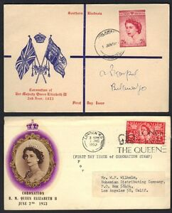 SOUTH AFRICA UK GB SOUTHERN RHODESIA 1953 CORONATION FDC OF QUEEN 2 sh. 6 d TIED