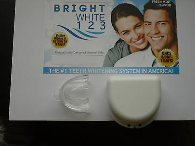 Teeth Whitening Utra-Soft Mouth Tray and Storage Container  - Bright White 123