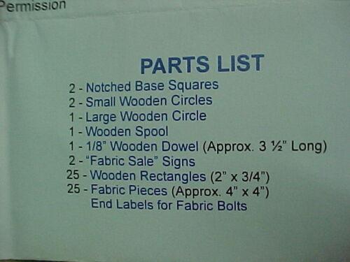 Dollhouse Miniature Fabric Display Unit Kit Walnut Round FS204W