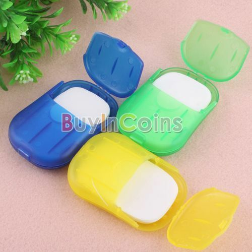 Convenient Washing Hand Bath Travel Scented Slice Sheets Foaming Box Paper Soap
