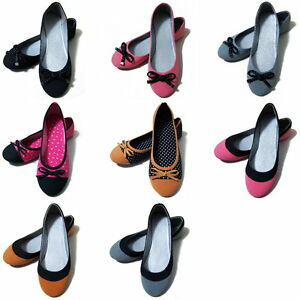Womens-Pretty-Ballet-Flats-Casual-Ballerina-Comfort-Shoes-NEW