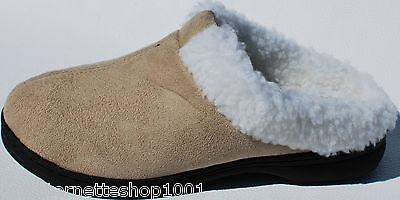 Damen Pantoffel Hausschuhe mit Fellrand, feste Sohle Gr. 36,37,38,39,40,41 NEU