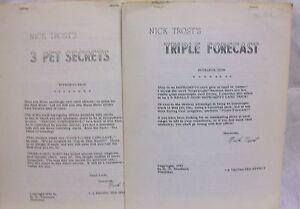 Nick Trost's 3 Pet Secrets & Triple Forecast