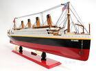 "Handicraft LIGHTED RMS TITANIC OCEAN LINER WOODEN MODEL CRUISE SHIP 32"" - C057"