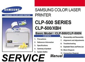 Details about Samsung CLP-500 XBH 500 CLP 500N color laser printer Service  Repair Manual PDF