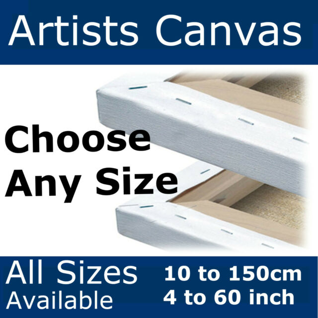 Blank Canvas *ALL SIZES AVAILABLE* Stretched Plain Artists Gesso Primed Painting