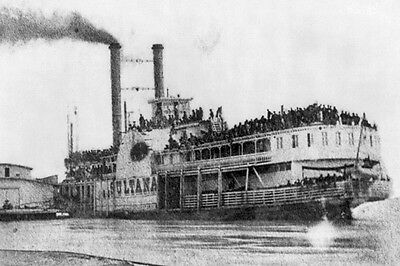 New 5x7 Civil War Photo: Ill-fated Steamboat Sultana at Helena, Arkansas 1865
