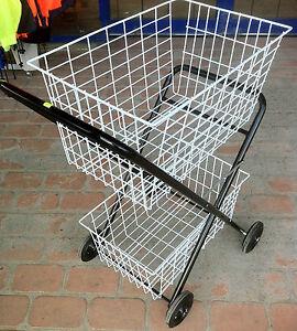Shopping Trolley Shopping Jeep Two Tier Basket Heavy Ebay