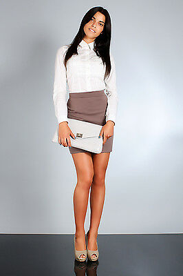 Classic & Elegant Women's Skirt High Waist Mini Pencil Sizes 8-16 FA05