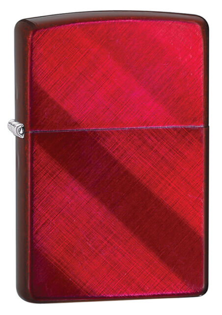 Zippo Choice Candy Apple Red On Diagonal Weave Windproof Lighter 28353