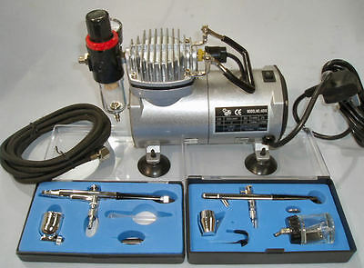 AIRBRUSH KIT + AIRBRUSH COMPRESSOR FOR CAKE BAKING AND DECORATING