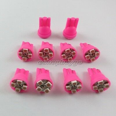 10x 4-SMD Super pink purple LED License Plate Light Bulbs 194 T10 2825 921 168