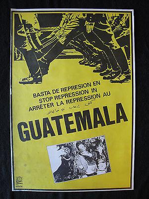 OSPAAAL Political Poster Stop Repression in Guatemala 1980 ARTIST Art Original c