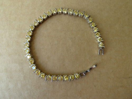 925 Silver Free Post//Great gift NWT Bracelet Quality grade CZ stones plated
