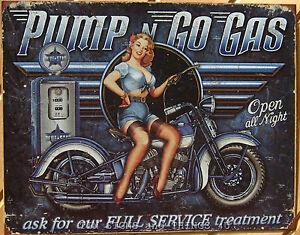 Pump-Go-Gas-TIN-SIGN-full-service-pinup-girl-bike-1698
