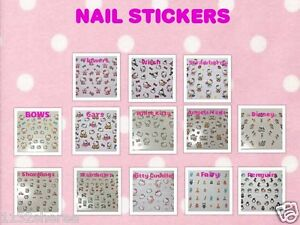 UK-GLITTER-HELLO-KITTY-DISNEY-NAIL-STICKERS-ART-TIP-LADIES-KIDS-CHILDRENS-GIRLS