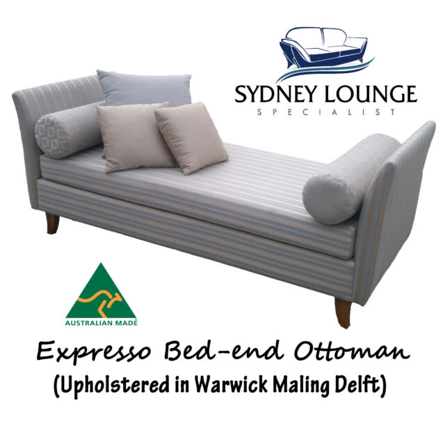 Brand New - AUS MADE Expresso Bed End Ottoman / Bay Window Day Chaise Lounge