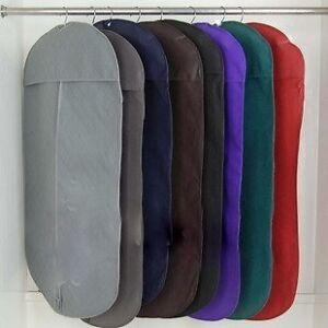 Suit-Bag-Black-Breathable-Fabric-not-Plastic-Zip-Closure-AU-Seller