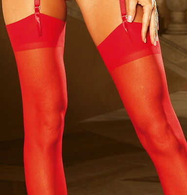 Sexy RED Sheer Plus Size Thigh High Stockings - Leg Avenue 1001Q