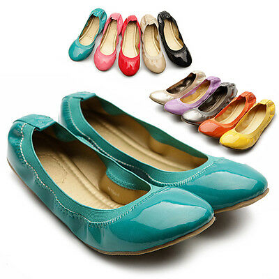 NEW Womens Shoes Ballet Flats Loafers Comfort Cute Enamel Multi Colored