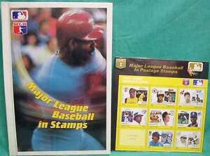 Major-League-baseball-stamps-album-and-1st-set-of-stamps