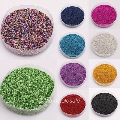 50g Wholesale Candy Color Mini Beads Pearl Tips Decoration DIY Nail