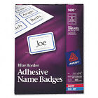 """Avery Dennison Ave-5895 Name Badge Label - 2.33"""" Width X 3.37"""" Length"""