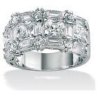 Palm Beach Jewelry Platinum/silver Multi-cut Cubic Zirconia Ring (422075)