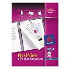 "Avery Dennison Ave-47696 Flexi-view 6-pocket Organizer - Letter 8.5"" X"