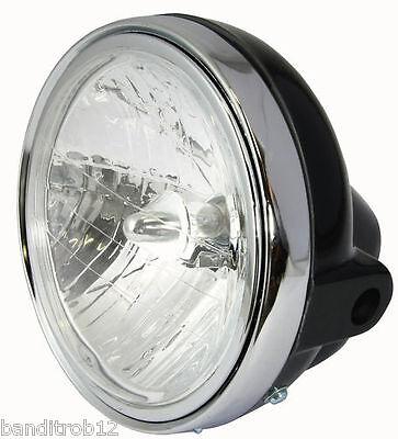 "7"" Black Round Motorcycle Headlamp Headlight Unit"