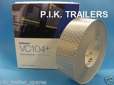 Per metre - WHITE Reflexite VC104+ Rigid Grade Reflective Reflector Marker Tape
