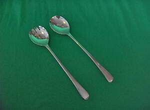 Sheffield-Silver-Plate-Serving-Fork-Spoon-England