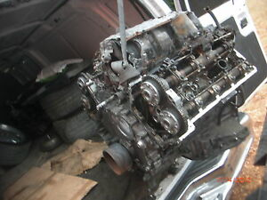 2002-2003-BMW-E65-E66-OEM-ENGINE-MOTOR-745Li-745i-745-BURN-FOR-PARTS-BROKEN