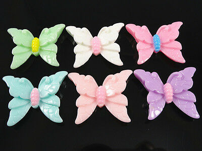 24/72PCS Resin butterfly Flatback the the the Buttons Embellishments DIY