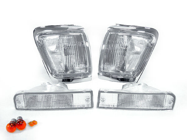 1992 1993 1994 1995 TOYOTA 4RUNNER DEPO CLEAR FRONT CORNER+BUMPER SIGNAL LIGHTS