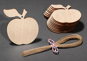 Wooden-Apple-Hanging-Decorations-Craft-Gift-Tags-Labels