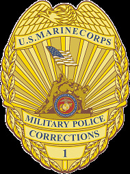 STICKER U.S. Marine Corps Military Police Corrections Officer Badge