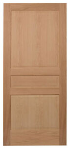 3 Panel Raised Panels Red Oak Stain Grade Solid Core Interior Wood Doors New Ebay