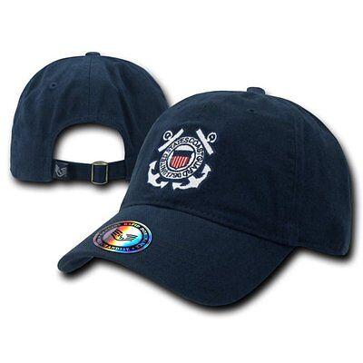 Navy Blue USCG United States US Coast Guard Polo Baseball Ball Cap Hat Caps Hats