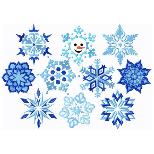 "ABC Designs 10 Snowflakes Machine Embroidery Designs Set 4/""x4/"" Hoop"