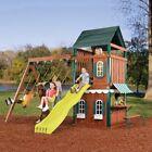 Swing N Slide Swing-N-Slide Newport Wood Swing Set and Playhouse