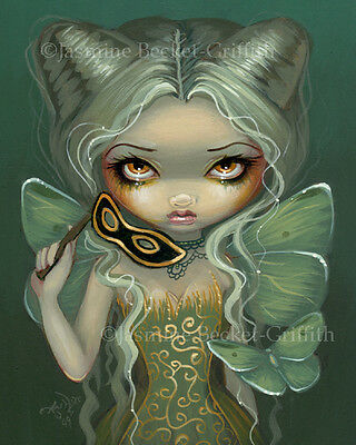 Jasmine Becket-Griffith art print SIGNED Masquerade of Moths fairy lowbrow pop