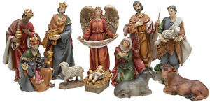 11-Piece-Traditional-Resin-Christmas-Nativity-Figurine-Display-Set
