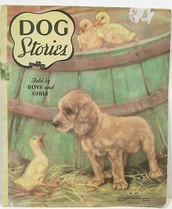 Dog-Stories-Told-By-Girls-and-Boys-by-Diana-Thorn-1937-6-Full-Pg-Color-Illus
