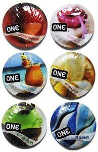 ONE-Flavor-Waves-Assorted-Flavored-Bulk-Condoms-Choose-Quantity
