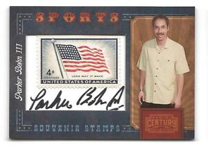 PARKER-BOHN-III-2010-PANINI-CENTURY-COLLECTION-AUTO-STAMP-1-5-BOWLER-HOF