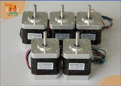 5 PCS CNC Nema17 for 1.7A, 4000g.cm, 40mm,2phase Wantai Stepper Motor 42BYGHW609