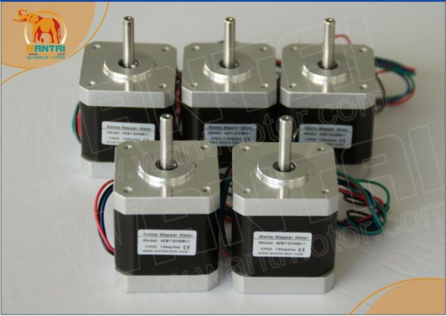 5 PCS CNC Nema17 for 1.7A, 4000g.cm, 40mm length,2 phase Wantai Stepper Motor