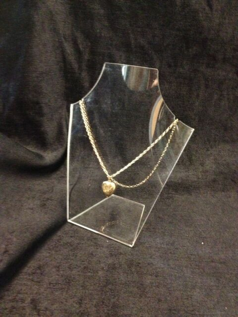 150 x CLEAR PERSPEX ACRYLIC FORMED NECKLACE JEWELLERY STAND DISPLAYS ...NEW