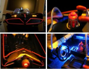 NEW-LED-LIGHT-UP-KIT-1-18-1966-HOT-WHEELS-BATMOBILE-MATTEL-LIGHTS-TV-BATMAN